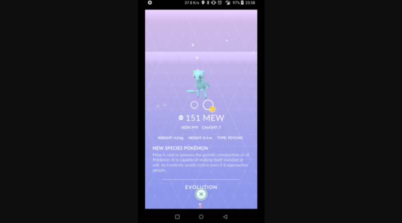 Pokemon GO shiny Mew
