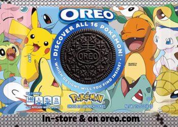 寶可夢與奧利奧OREO推限量版聯名餅乾
